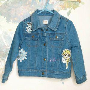 Disney Collection Size 3T Denim Jacket Frozen Elsa